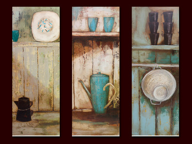Jo Oakley 3er Set 'Black Coffeepot' + 'Two Green Cups' + 'Little Black Cups'