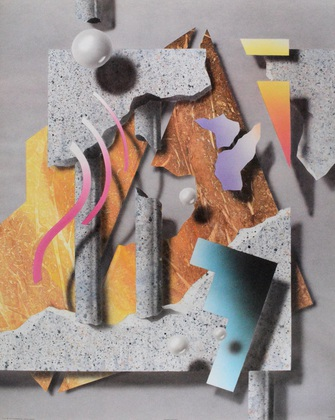 unbekannter Kuenster Abstract Collage I