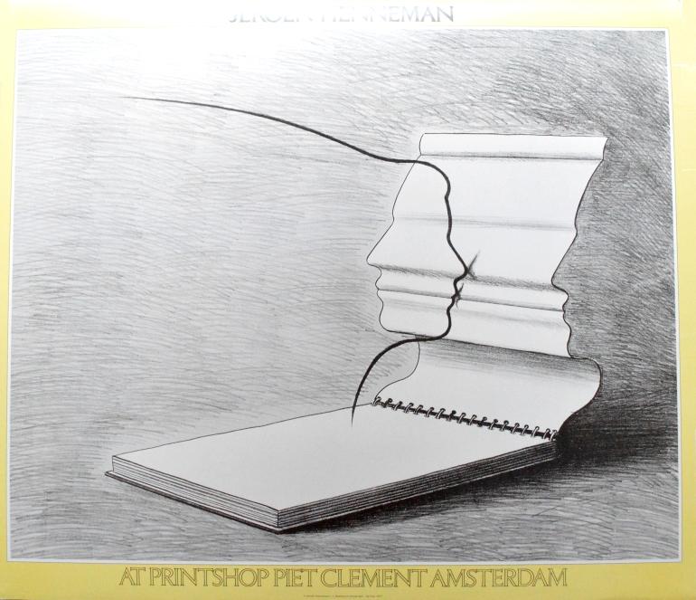 jeroen henneman der kuss 1977 poster kunstdruck bei. Black Bedroom Furniture Sets. Home Design Ideas