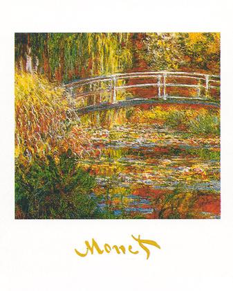 Claude Monet Bruecke ueber Seerosen