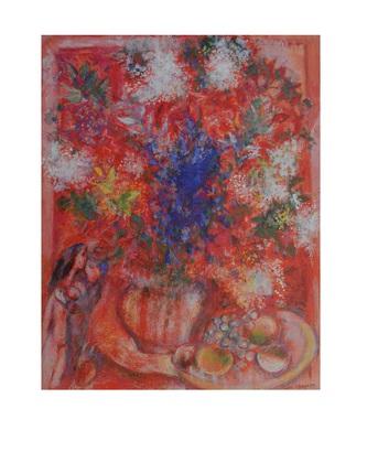 Marc Chagall Die roten Blumen