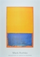 Rothko mark untitled  yellow  blue on orange  medium