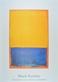 Rothko mark untitled  yellow  blue on orange  medium