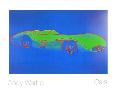 Andy Warhol Cars Formula I Car W 196 R Bj 1954 blau