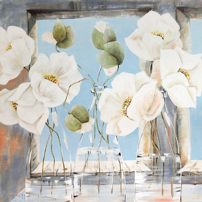 Annelies Buergin White Flowers - Variation 1