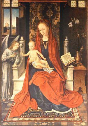 Hans Memling Thronende Maria