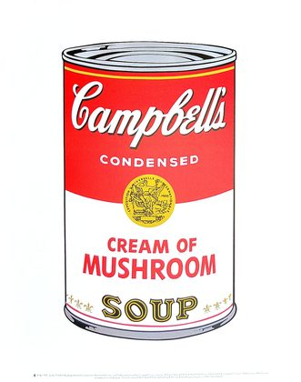 Andy Warhol Campbell's Soup I 1968 (cream of mushroom)