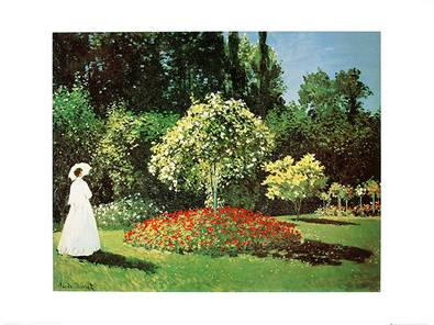 Claude Monet Madame au Jardin a Sainte Adresse