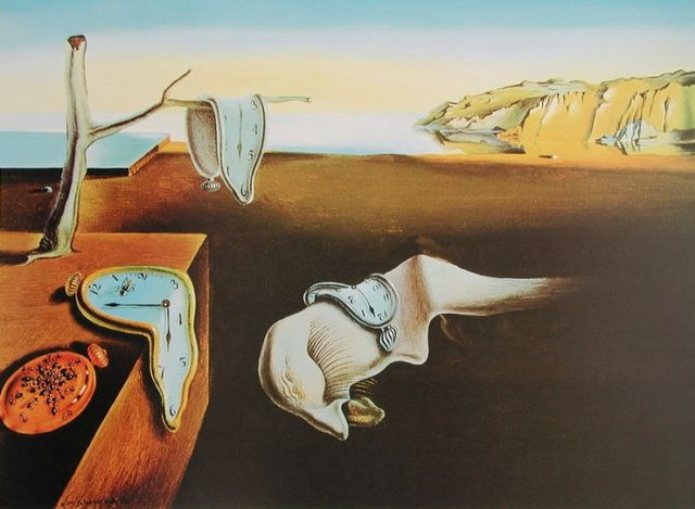 salvador dali persistence of memory hartnaeckige erinnerung poster kunstdruck bei. Black Bedroom Furniture Sets. Home Design Ideas