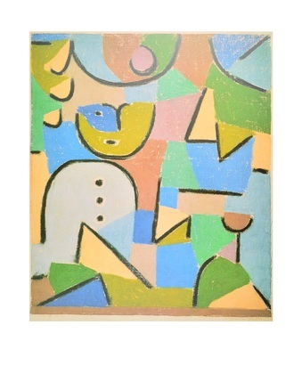 Paul Klee Figur im Garten