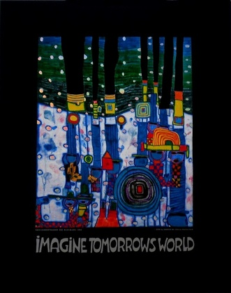 Friedensreich Hundertwasser Blue blues - Imagine tomorrows world