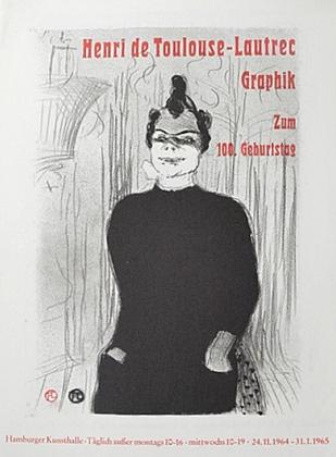 Henri Toulouse-Lautrec Grafik zum. 100 Geburtstag 1965