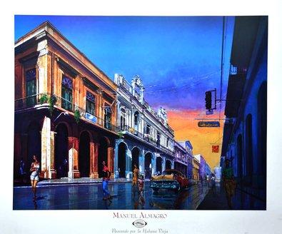 Manuel Almagro Paseando por la Habana Vieja