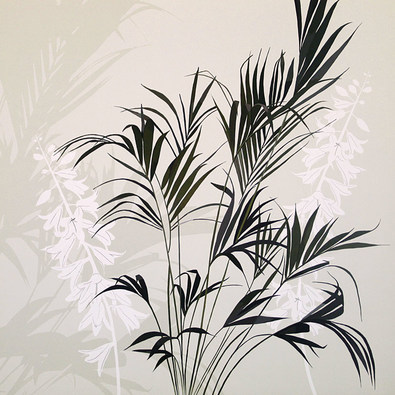 Kate Knight 2er Set 'Fern Silhouette' + 'White Flower Fern'