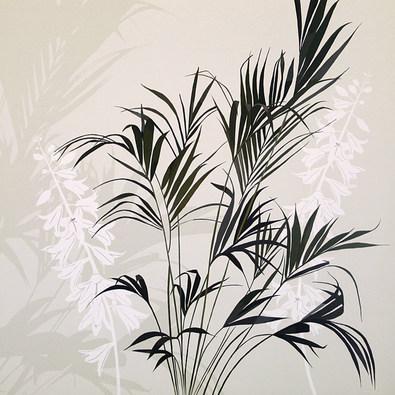 Kate Knight 2er Set 'Fern Silhouette' + 'White Flower Fern'
