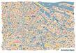 Amsterdam Stadtplan Poster Vianina