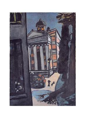 Max Beckmann Die Stourdza Kapelle, Regentag in Baden-Baden