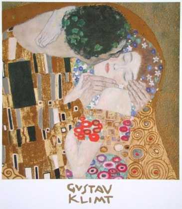 Gustav Klimt Der Kuss Ausschnitt