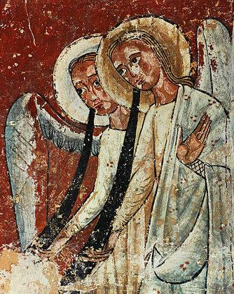 Katalanischer Meister Zwei Posaunenengel (um 1200)