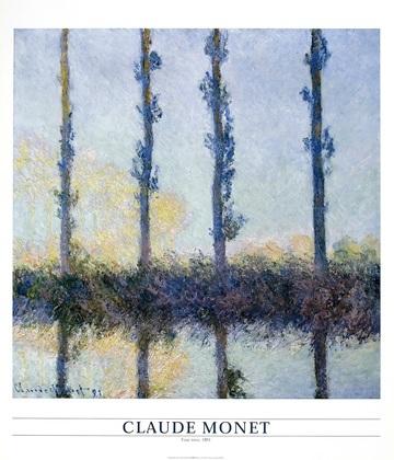 Claude Monet Four trees 1891
