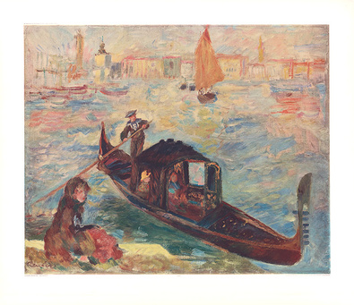Pierre Auguste Renoir Venedig mit Gondel