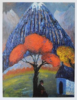Marianne von Werefkin Der rote Baum, 1910