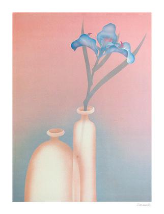 Schlichtholz Blaue Iris
