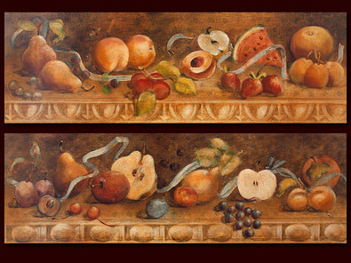 Cheri Blum 2er Set 'Fruit Panel I + II'