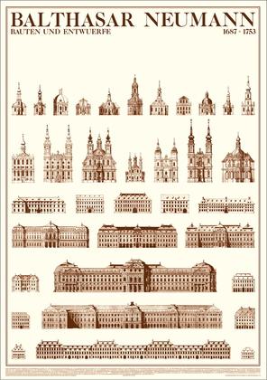 Balthasar Neumann Bauten und Entwuerfe