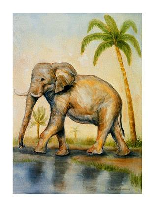 Alexandra Churchill 3er Set 'Elephant Africana' + 'Zebra Africana' + 'Camel Africana'
