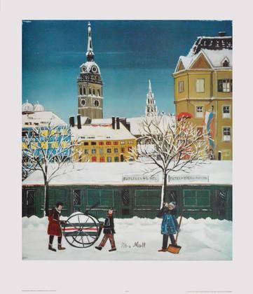 Petra Moll Viktualienmarkt im Winter