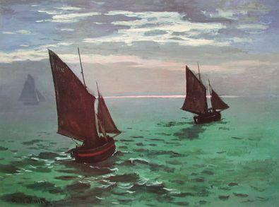 Claude Monet Boote fahren hinaus aufs Meer