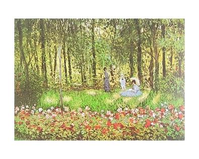 Monet claude die familie des kuenstlers im garten in argenteuil large