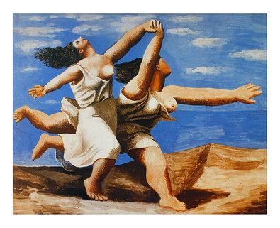 Pablo Picasso Two Women Running on the Beach (klein)