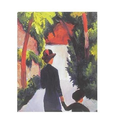 August Macke Mutter und Kind im Park