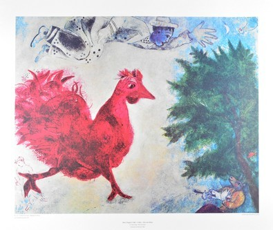 Chagall marc der rote hahn 49780 large