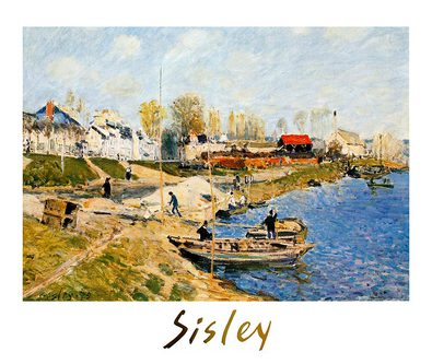 Alfred Sisley Sand on the Quayside, Port-Marly