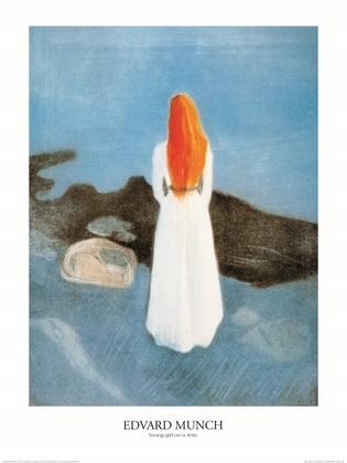 Edvard Munch Maedchen am Steg