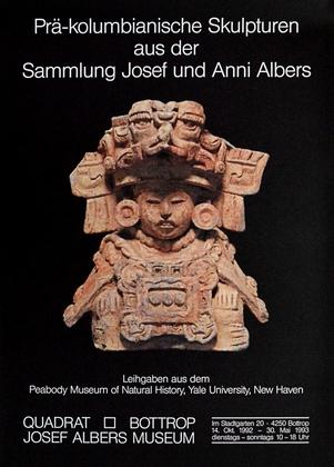 Albers josef und anni sammlung praekolumbischer skulpturen ausstellungsplakat large