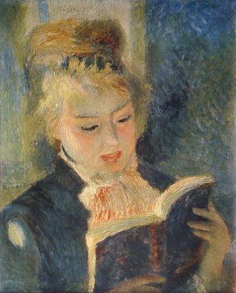 Pierre Auguste Renoir Lesendes Maedchen   La Liseuse