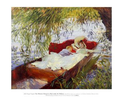 John Singer Sargent Two Women Asleep in a Punt