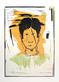 Josati Portrait auf Gelb