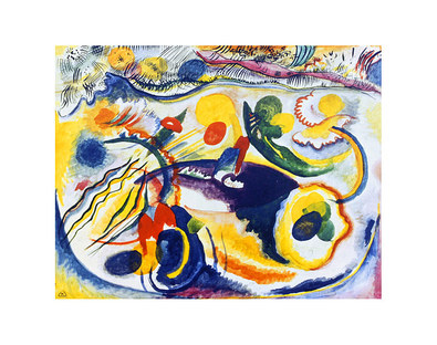 Wassily Kandinsky On the Theme of the Last Judgement, 1913