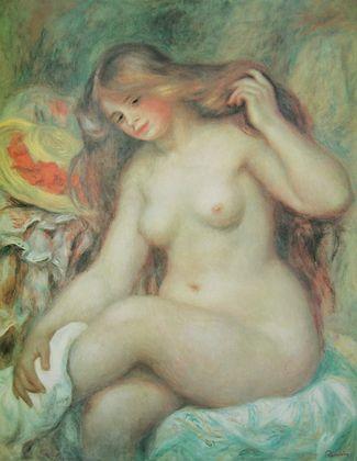 Renoir pierre auguste die blonde badende large