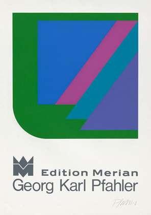 Georg Karl Pfahler Edition Merian Plakat