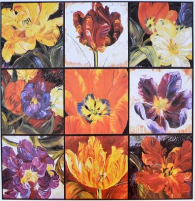 unbekannter Kuenstler 9 Tulpen