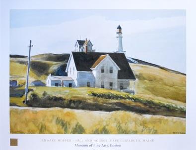 Edward Hopper Hill and House Cape Elizabeth 1927