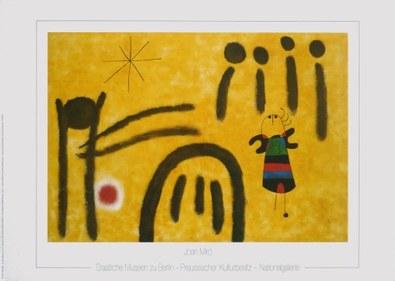 Joan Miro Die kleine Blonde im Park der Attraktionen