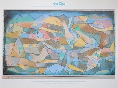 Paul Klee Spielende Fische- Miniaturarting