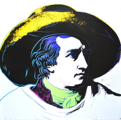 Warhol andy goethe  white background   gross   large